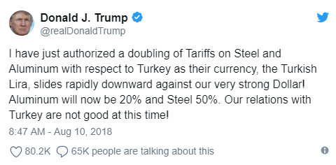 3. Trump's Tweet