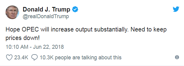 5. Trump's tweet, OPEC